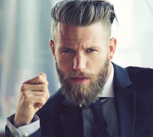 high and tight haircut with beard