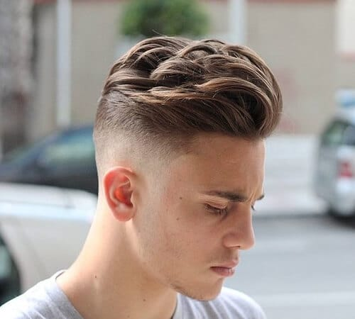 boy with high and tight wavy haircut