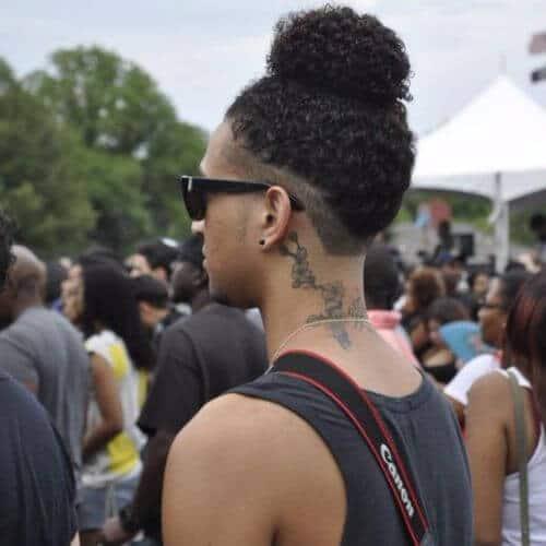 Afro Hairstyle Bun