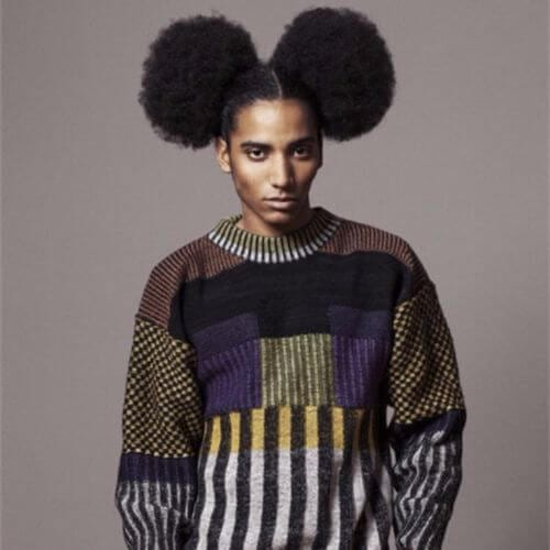 Afro Hairstyle Puffs