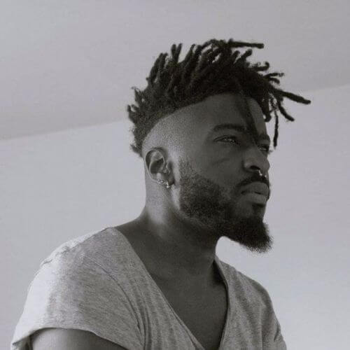 Afro Hairstyles Short dreads with Fade