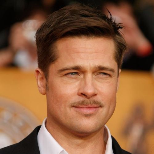 Brad Pitt Haircut Ideas The Gable-esque Stache