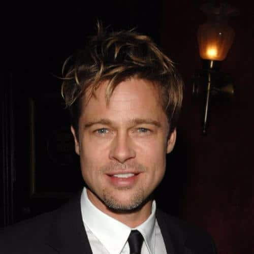 Brad Pitt Haircut Ideas Voluminous Messy Highlighted