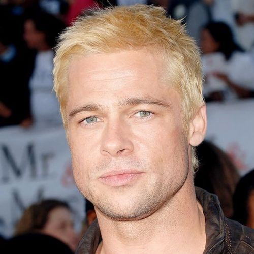 Brad Pitt Haircut Ideas Bleached Short Blonde