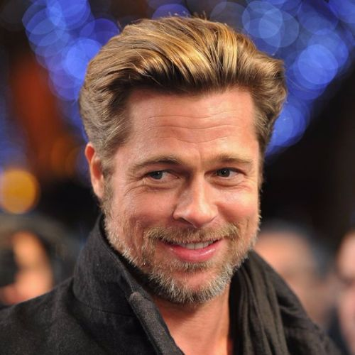 Brad Pitt Haircut Ideas Brushed Back