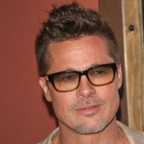 Brad Pitt Haircut Ideas Curly Top