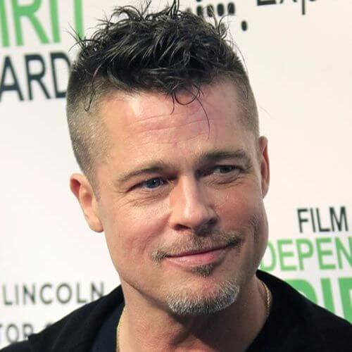 Brad Pitt Haircut Ideas Messy and Spikey