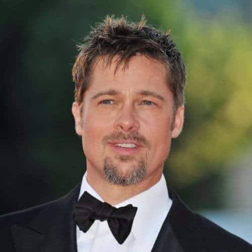 Brad Pitt Haircut Ideas Brushed Forward Feathered Fringe