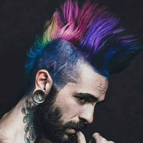 rainbow mohawk haircut