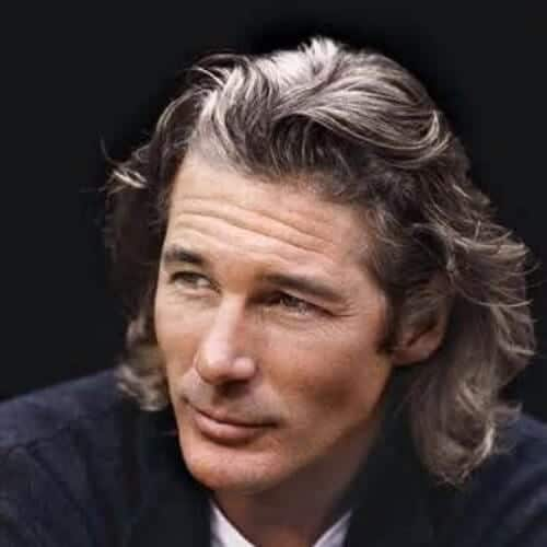 richard gere long hairstyles for men
