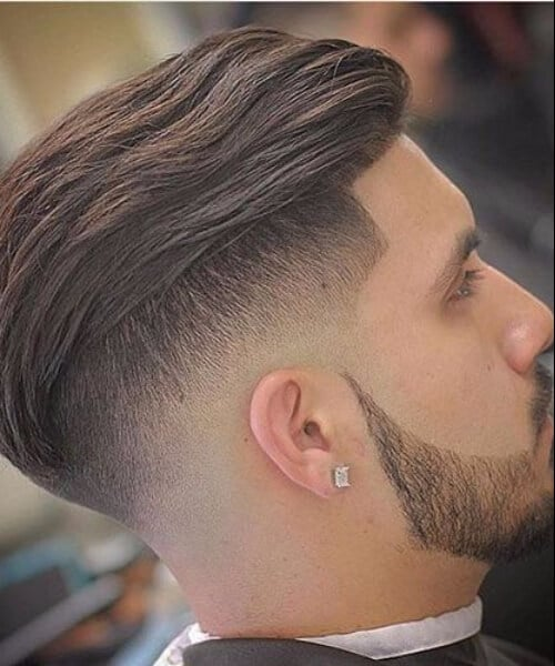 Disconnected Undercut with Textured Slick Back haircut