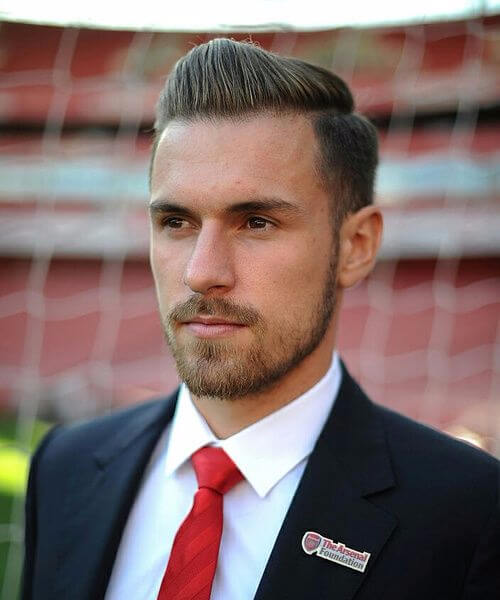 aaron ramsey arsenal soccer haircuts