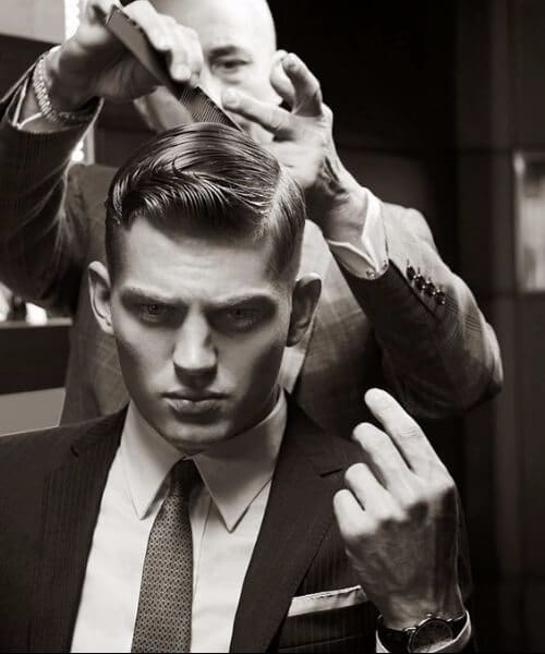business dapper slick back haircut