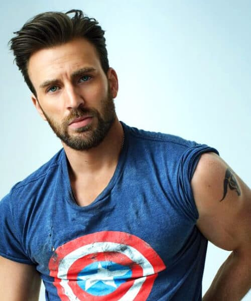 chris evans slick back haircut