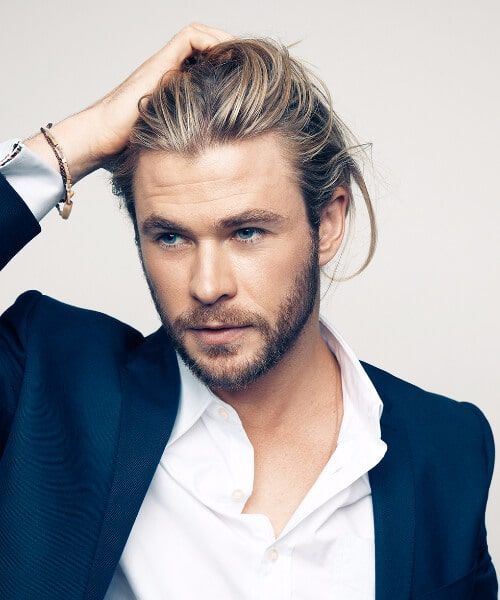 chris hemsworth slick back haircut