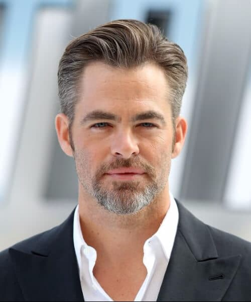 chris pine slick back haircut
