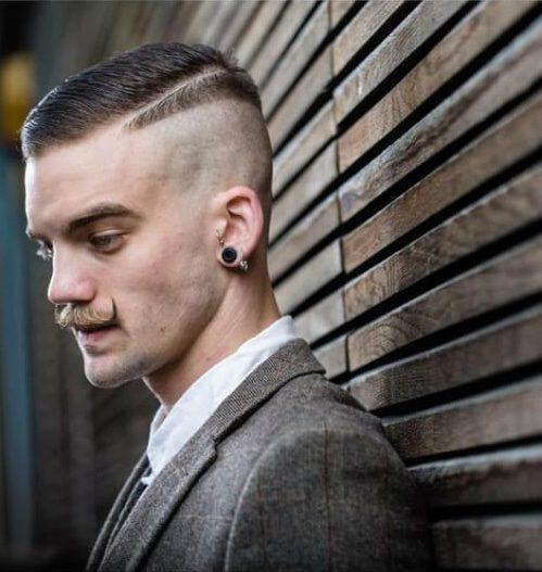clashing styles slick back haircut