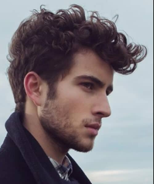 curly quiff mens hairstyles
