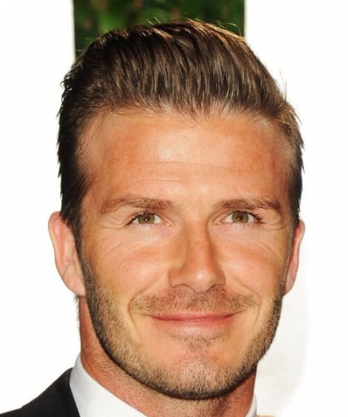 david beckham slick back haircut