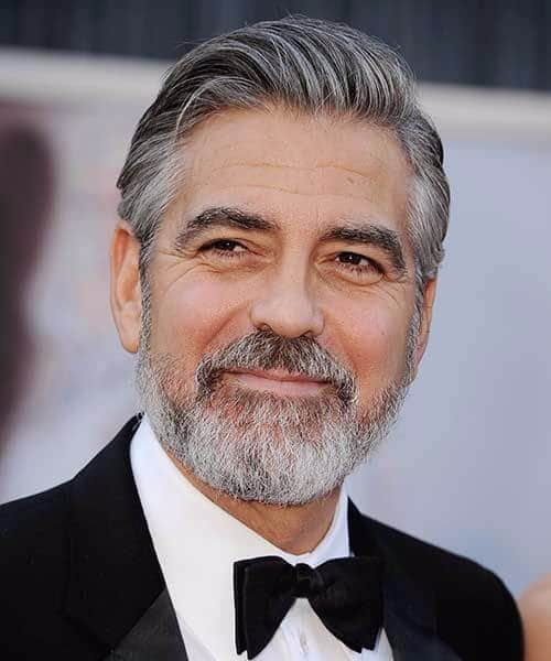 george clooney slick back haircut