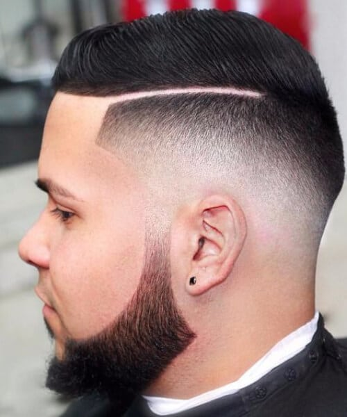 hard part slick back haircut