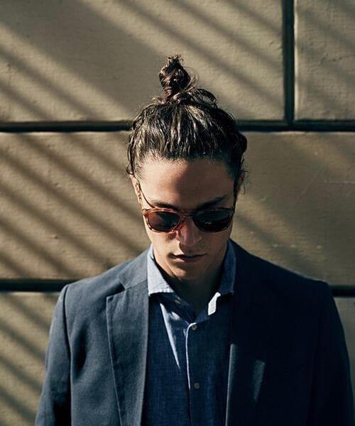 hipster top knot men