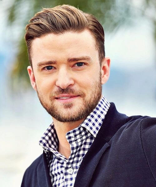 justin timberlake slick back haircut
