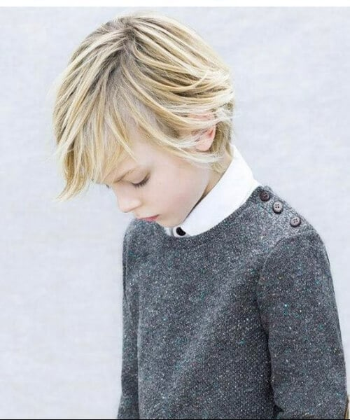 layered long fringe boys haircut