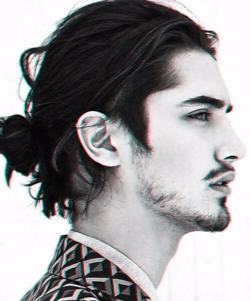 long hair slick back haircut