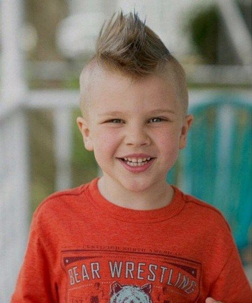 mohawk boys haircut
