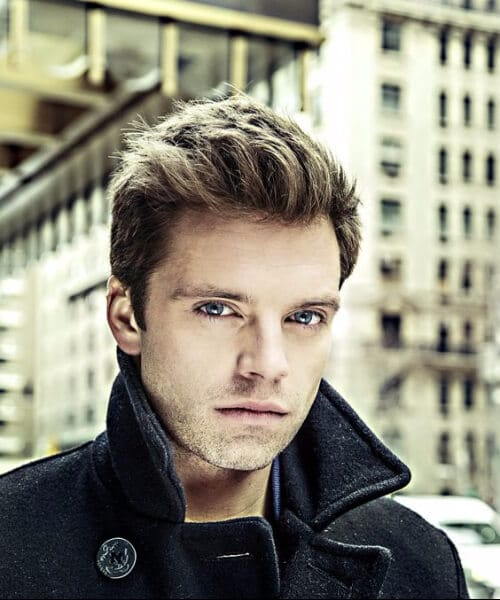 sebastian stan slick back haircut