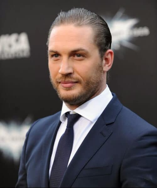 tom hardy slick back haircut