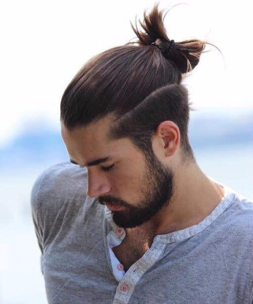 top knot men undercut