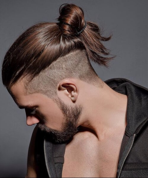 viking style top knot men