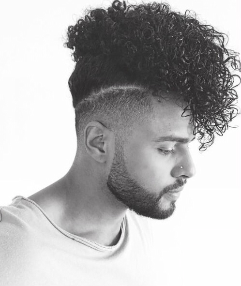 black men hairstyles long curly top