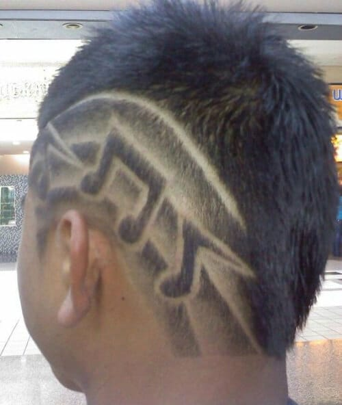 music notes hair designs for men