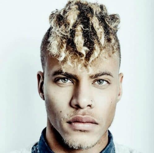 Super Short Sides and blonde Dreads black men hairstyles