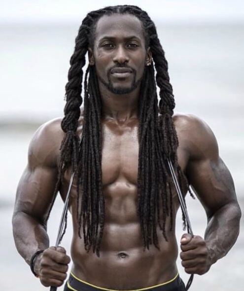 Very Dude with dreads naked