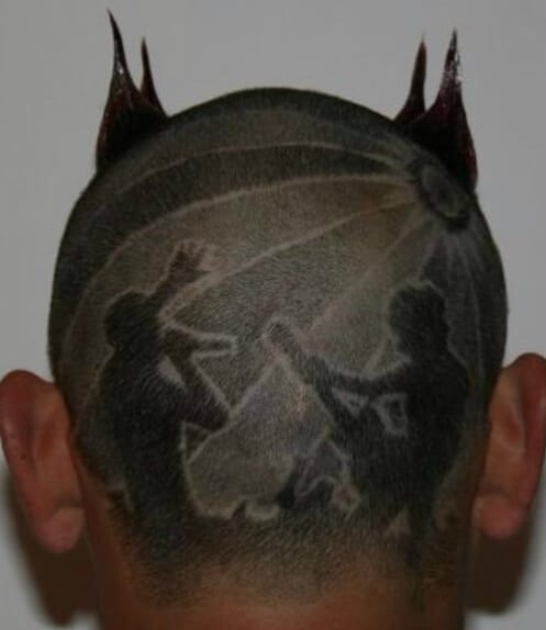 stage performance hair designs for men