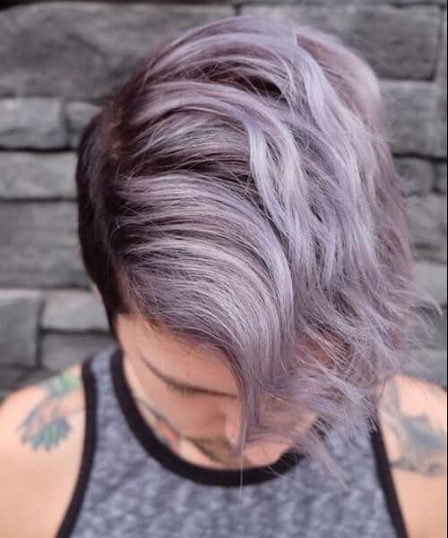 Deep violet root pastel hipster hairstyles
