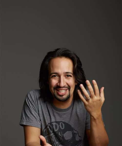 Lin Manuel Miranda medium hairstyles for men