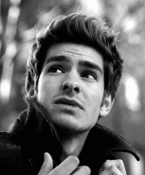 andrew garfield medium hairstyles for men