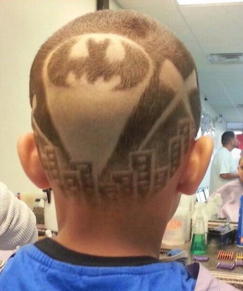 bat signal hair designs for men
