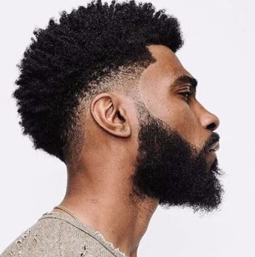 black men hairstyles curly natural undercut beard