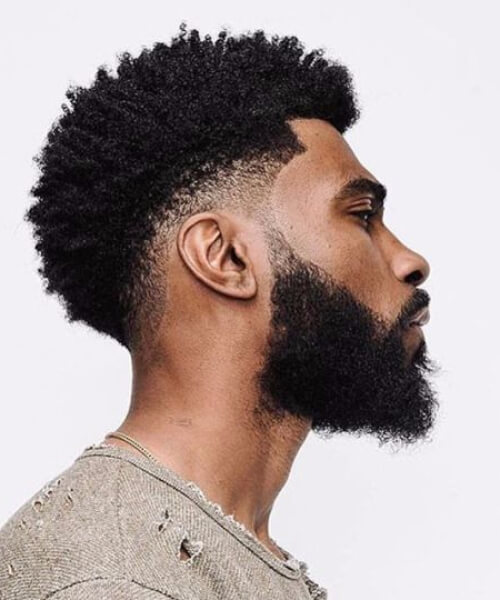 Amazing Black Men Hairstyles Curly Natural Undercut Beard
