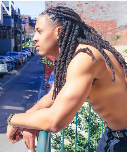 black men hairstyles long twists