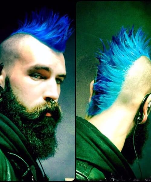blue punk hipster hairstyles