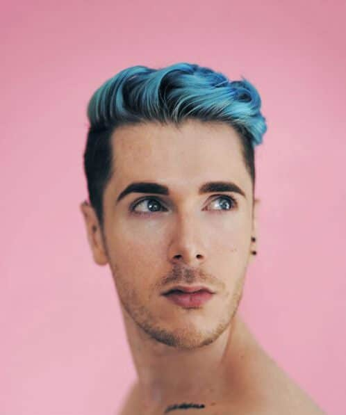bubblegum blue modern haircuts for men