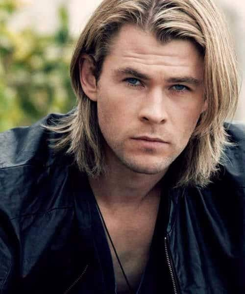 chris hemsworth medium hairstyles for men