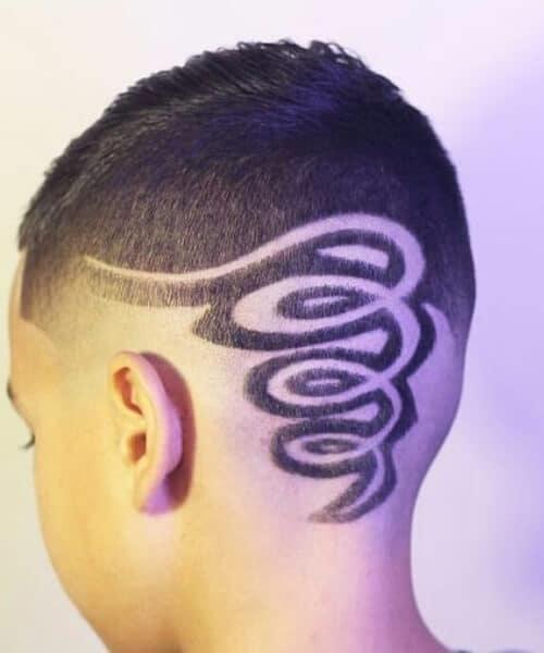 corkscrew hair designs for men